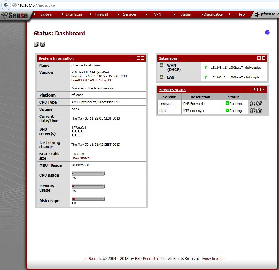Pfsense on SunFireX2100